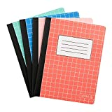Yoobi | Composition Book | 70 College Ruled Sheets | Multicolor | Pack of 4 (YOOB1202446)...