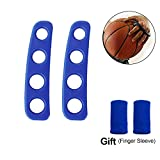 Ulover 2Pcs Shot Lock for Youth & Adult, Silicone Basketball Shooting Trainer Aid (Blue, Medium)