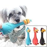 ECMQS 1 stück Spielzeug Für Hunde, Schreien Gummi Huhn Spielzeug Für Hunde Latex Squeaker Chew...