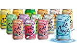 La Croix Sparkling Water - All Flavor Variety Pack, 14 Flavors (Sampler), 12 Oz Cans, Flavored Seltzer Drinking Water Beverage Naturally Essenced   Pack of 14