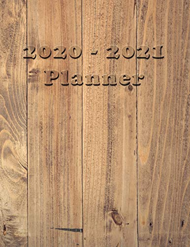 2020 - 2021 Planner: Academic and Student Daily and Monthly Planner - July 2020 - June 2021 - Organizer & Diary - To do list - Notes - Month's Focus -  Country cover with Wood effect