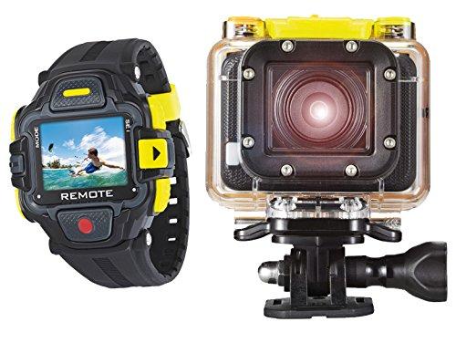GoXtreme Easypix Full HD Action Kamera (3,2 cm (1,2 Zoll) OLED Farbdisplay, 16 Megapixel Sensor, 1080P, HDMI, USB 2.0, WiFi) inkl. Kontroll-Uhr schwarz