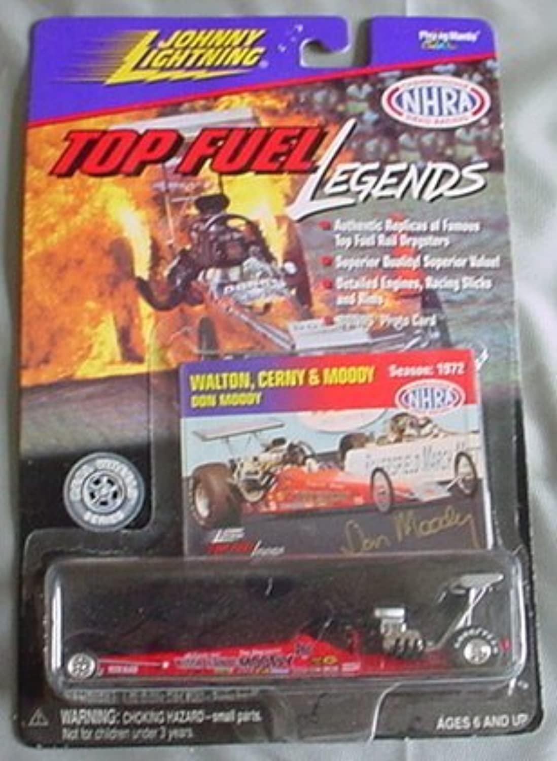 Johnny Lightning Top Fuel Legends NHRA Walton Cerny & Moody Don Moody rot by Playing Manits