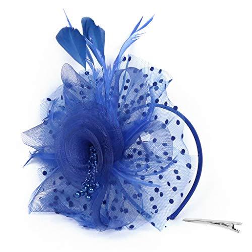 MIRRAY Flapper Great Gatsby Stirnband Pearl Charleston Rockabilly 1920er Sommer Hochzeit Party Braut Kopfschmuck YP Blau