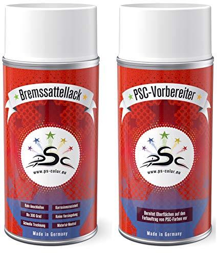 Set 1 : 2 x 150ml Bremssattellack Spray Weißaluminium RAL 9006 & Metall-Reiniger Auto-Bremssattel-Lack-Tuning-Styling nachfärben