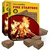 Stock Your Home Vegetable Oil Fire Starters (288 Squares) - Eco-Friendly Grill Fire Starters - No Kindling Required -...