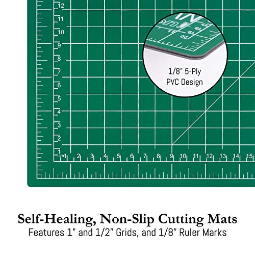 Portman Rotary Fabric Cutter Set 45mm 5 Replacement Blades /& 6x24In Ruler W.A