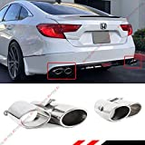 Akasaka Stainless Polished Quad Muffler Exhaust Tips Finishers Compatible with 2018-2020 Honda Accord Sport EX-L Touring