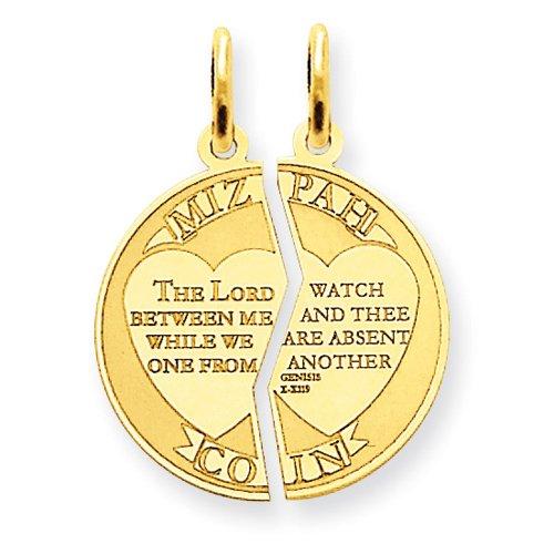Buy mizpah pendant break apart pendant in 14k gold vevyamonity mizpah pendant break apart pendant in 14k gold features and description aloadofball Choice Image