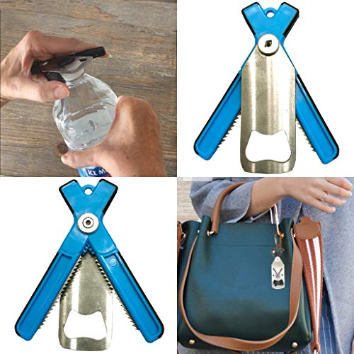 GripAssist (Teal) - Compact device for hand & grip weakness| Arthritis| Twist-Off Cap Opener| Water Bottle Opener| Small Jar Opener| Universal | Keychain | Assistive Device | EZ to use…