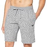 Emporio Armani Underwear Bermuda All Over Logo Terry, Printed Mel.Grey, XL para Hombre