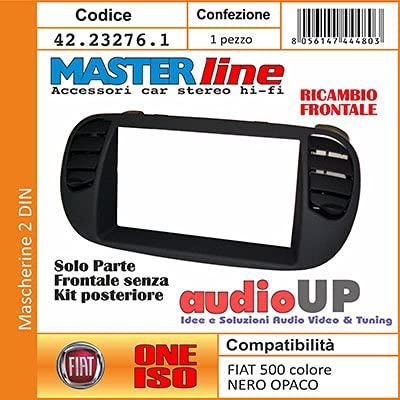 Mascherina autoradio 2 DIN con prese aria SOLO CORNICE. Colore NERO OPACO. Controlla la descrizione per la compatibilità dei veicoli.