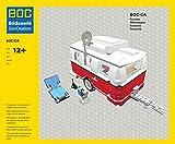 BOC-CA einachsiger Wohnwagen Camping Anhänger aus LEGO für LEGO 10220 VW T1 Bus Bulli