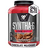 BSN SYNTHA-6 EDGE Protein Powder, with Hydrolyzed Whey, Micellar Casein, Milk Protein Isolate, Low Sugar, 24g Protein, Chocolate Milkshake, 48 Servings