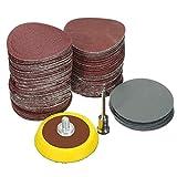 Bluelliant 100PCS 25mm Kit de Almohadillaspara Discos de Lija para Herramientas Rotativas de Amoladora de Taladro con Placa de Respaldo 1/8' Incluye un Papel de Lija de Grano 100-3000