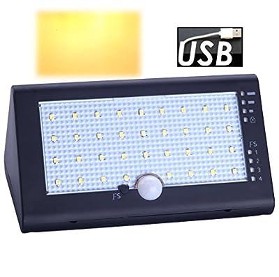Inngree Solar Outdoor Motion Sensor wall lights, Solar Wall Lights Larger Waterproof Solar Powered Wireless Exterior Security Lights Outdoor Spotlights Wall Lights