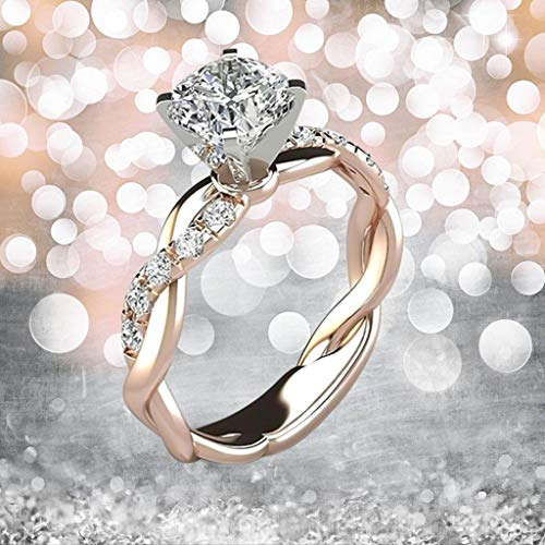 HINK Silver Ring Bridal Zircon Diamond Elegant Engagement Wedding Band Ring Rings Jewelry & Watches For Woman Valentine Easter Gift