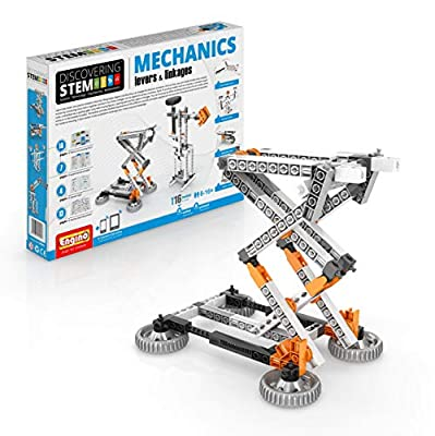 Engino Discovering STEM Mechanics Levers & Linkages | 16 Working Models | Illustrated Instruction Manual | Theory & Facts | Experimental Activities | STEM Construction Kit from Elenco Electronics Inc