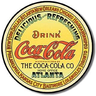 The Finest Website Inc. Coke Coca Cola Atlanta Round Sign 11.75 inches in Diameter (D1070) Nostalgic Advertising Tin Sign