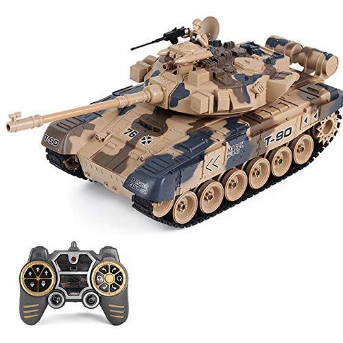 DSXX 2.4GHz RC Panzer Ferngesteuert Russland T-90 2A6, 1: 18 Panzer Militär Spielzeug mit Ton- und Lichteffekten