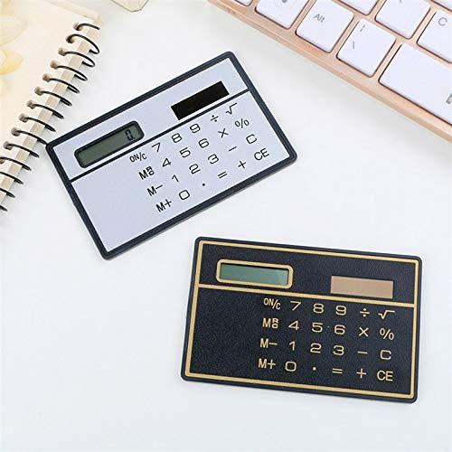 TEDLKU zakrekenmachine, ultradunne mini-rekenmachine, 8-cijferig formaat, met zonne-energie zilver