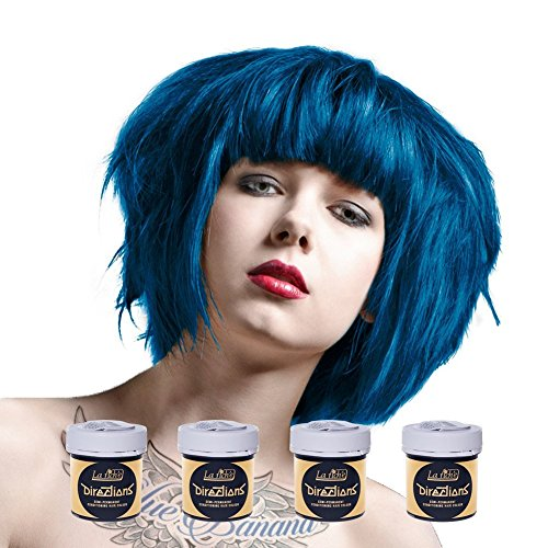 4 x La Riche Directions Semi-Permenant Hair Colour Dye Box Of Four-Denim Blue (dir)