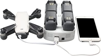 Bonfook DJI Spark Multi Charger, 6-in-1 Rapid Parallel Battery Charger Station Intelligent Charging Hub Replacement Kit for Spark Accessories