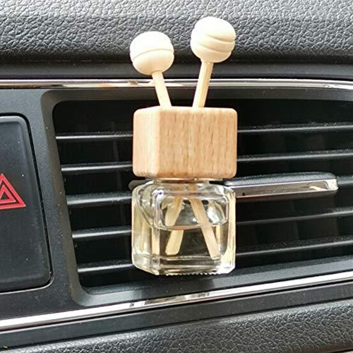 LNWSXB Nachfüllbarer Lufterfrischer Ornament Parfümflasche Anhänger Ätherische Öle Auto Auto Parfümflasche Hängende Glasflasche