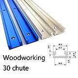 30 tipos de herramientas de inglete en forma de T con ranura en T de aluminio para trabajos de carpintería de madera o bricolaje, blanco