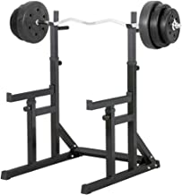 HNHX Squat Rack Adjustable Barbell Weight Bench Bench Press Home Fitness Equipment Weight Dumbbell Bench Bench White Sturdy Material Abdominal equipment Color : White, Size : 2 * 47 * 43 * 149cm