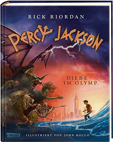 Percy Jackson - Diebe im Olymp (farbig illustrierte Schmuckausgabe) (Percy Jackson 1): Der erste Band der Bestsellerserie, ungekürzt und durchgehend wunderschön farbig illustriert!