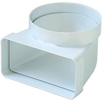 La Ventilazione CGV126B - Curva de conexión D/100 a 120 x 60 mm para ventilación canalizada campana cocina de tubo redondo a rectangular y viceversa, de PVC color blanco: Amazon.es: Bricolaje y herramientas