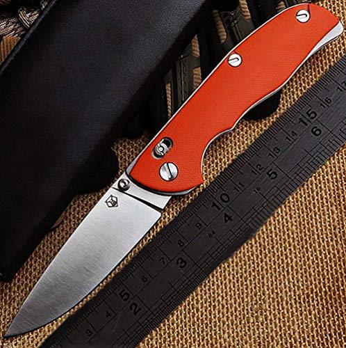 Shirogorov OEM Outdoor Taschenmesser klappmesser Überlebensmesser Fahrtenmesser D2 Stahl Klinge G10 Griff Armee Messer Camping Survival Messer Jagdmesser Multi EDC Clip Pocket Knife