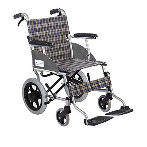 Kinderrollstühle Manueller Rollstuhl Tragbarer Faltrollstuhl Behindertengerechter Rollstuhl Rollstuhl for Reiseflugzeuge, Tragfähigkeit 100 Kg (Color : Gray, Size : 58 * 84 * 96cm)