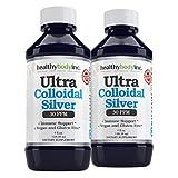 (2 Bottles) Pure Colloidal Silver 30 PPM Vegan and Gluten Free Colloidal Silver Nano Liquid Silver (Two 4oz. Bottles 118ml)