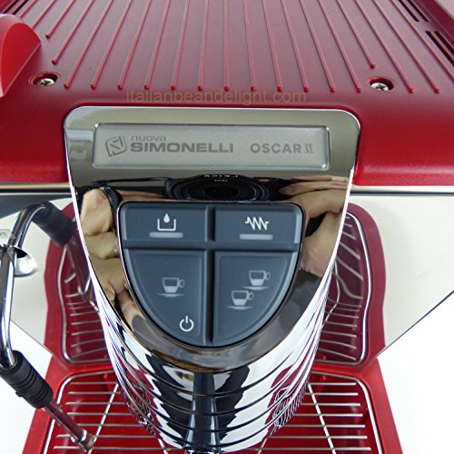Oscar by Simonelli Red Espresso Coffee Machine Tank Huge Starter Kit