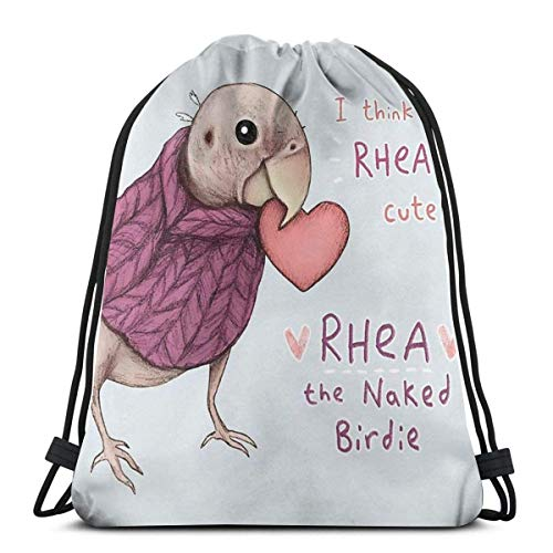 Hdadwy Rhea Rhea Ly Cute Waterproof Foldable Sport Sackpack Gym Bag Sack Drawstring Backpack