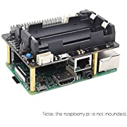 Geekworm Raspberry Pi 3 B+ / 3 Model B Safe Shutdown UPS HAT (18650 Battery Hat) Power Supply Management Expansion Board W/Wake on LAN(WOL) + RTC, X720 Module for Raspberry Pi 3 Plus/X820 SATA Board