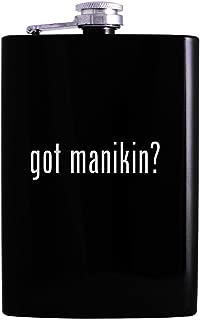 got manikin? - 8oz Hip Alcohol Drinking Flask, Black