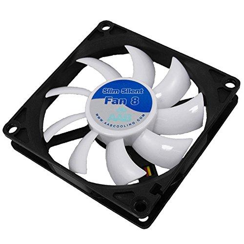 AABCOOLING Slim Silent Fan 8 - Un Silencioso y Muy Efectivo Ventilador 80mm, Fan PC, Ventilador Laptop, Ventilador 8cm, Fan Cooler, 27,45 m3/h, 1600 RPM 13,9 dB(A)