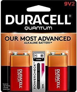 Duracell Quantum Alkaline 9-Volt Batteries, Pack of 2