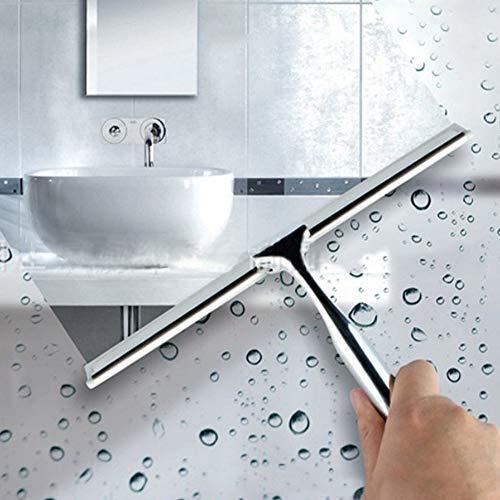 Techwills Ruitenwissers, sterke zinklegering, voor ramen en spiegels, Eén maat, met witte rubberen strepen, 1