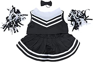 """Black and White Cheerleader Outfit Fits Most 8""""-10"""" Webkinz, Shining Star and 8""""-10"""" Make Your Own Stuffed Animals and"""