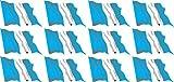 Mini Aufkleber Set - Pack wehend - 50x31mm - Sticker - Fahne - Guatemala - Flagge - Banner - Standarte fürs Auto, Büro, zu Hause und die Schule - 12 Stück