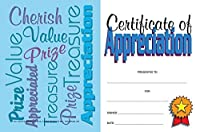 Certificate of Appreciation Mini 12 Packs of 25 (300 Certificates Total) 8.5 x 5.5 [並行輸入品]