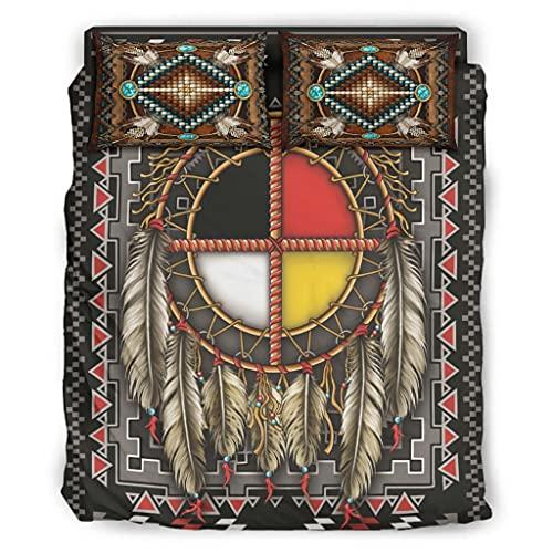 Lymnaraa Juego de cama de 4 piezas con funda de edredón y funda de edredón de fibra suave y tamaño Queen de 240 x 264 cm
