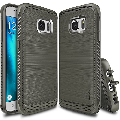 Ringke Onyx Compatible with Galaxy S7 Case Resilient Strength Flexible Durability, Durable Anti-Slip, TPU Defensive Case for Galaxy S7 - Gray