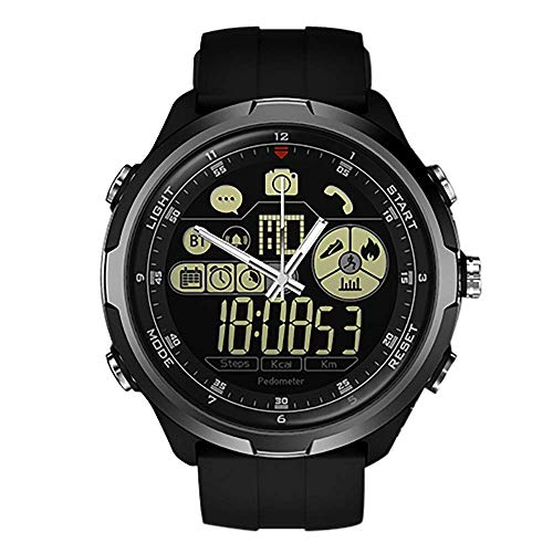 Zeblaze Smart Watch Vibe 4 Hybrid,Super Lightweight Vibe 4 Hybrid Rugged Hybrid Smartwatch 50M Waterproof 24-Month Standby Time 24h All-Weather Monitoring Smart Watch for Android iOS-Black
