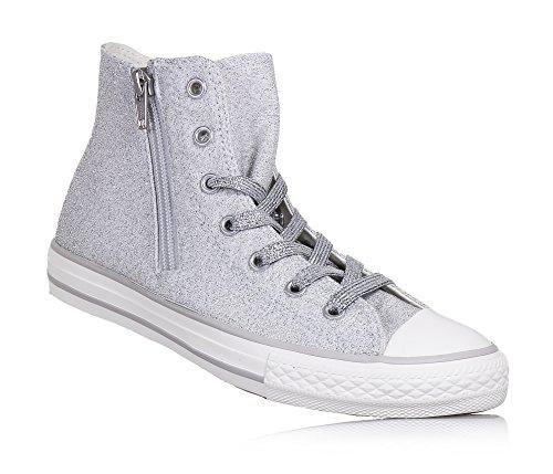 Converse - Converse Ctas Side Zip Hi Scarpe Sportive Bambina Argento - Silber, 30