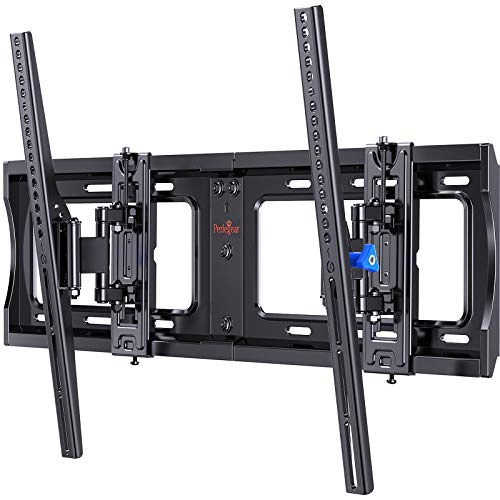 Advanced Tilt TV Wall Mount for 40-90 Inch QLED, OLED, LCD 4K Flat or Curved Large TVs, Full Tilting Extendable Swivel TV Bracket fit 16-24 inch Studs, Max VESA 600x400mm up to 132lbs by Perlegear